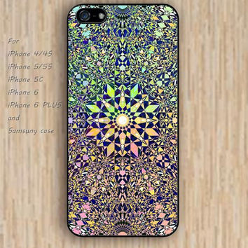 iPhone 5s 6 case  irregular geometry mandala phone case iphone case,ipod case,samsung galaxy case available plastic rubber case waterproof B346
