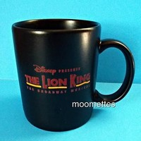 Disney Lion King Coffee Mug The Broadway Musical Black Souvenir Cup 10 oz