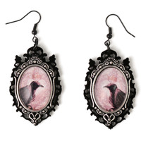 Raven Cameo Earrings | Curiology | Accessory Earring・Pierce | s-00528 | Wunderwelt Online Shop - Gothic & Lolita Second-hand Clothing