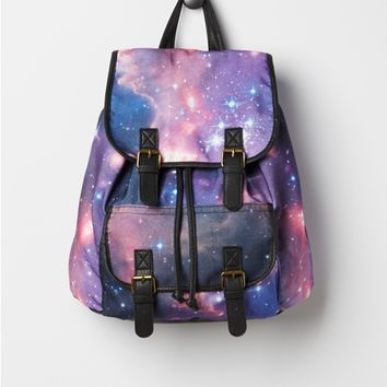 Galaxy Double Buckled Mini Backpack