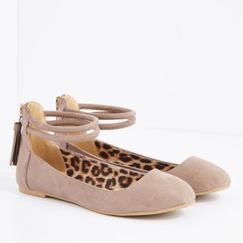 Nude Ankle Strap Ballet Flat By Qupid | Ballet | rue21