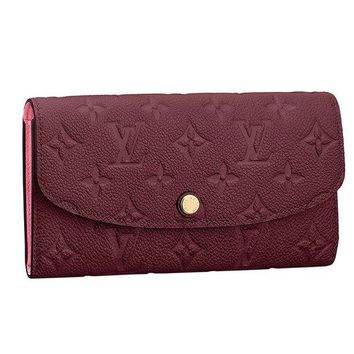 PEAP8 Louis Vuitton Monogram Empreinte Leather Emilie Wallet Raisin Article: M62015
