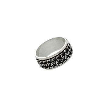 Gamma Infinity Sterling Silver Spinner Ring