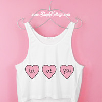 Lol At You Crop Tank Top