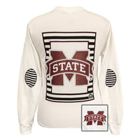 SALE MSU Mississippi State Bulldogs Glitter Logo Long Sleeves T Shirt