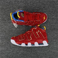 nike air more uptempo bpm red suede size 40 47