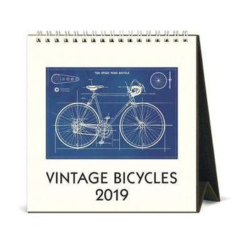 Bicycles Easel Desk Calendar, Cycling by Cavallini Papers & Co.