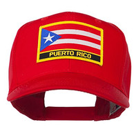 Puerto Rico Flag Letter Patched Cap - Red OSFM