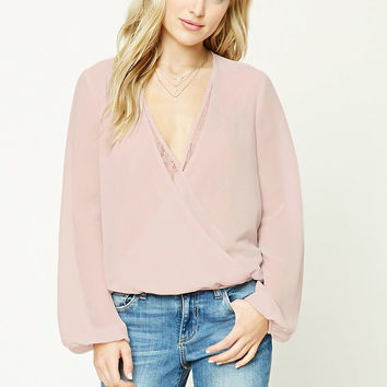 Contemporary Surplice Top