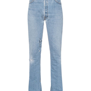 RE/DONE The Elsa High Rise Mini Flare Destroyed Destroyed vintage jeans - Jeans