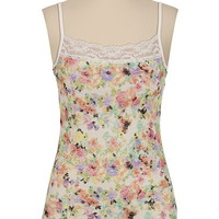 Ditsy Floral Print Lace Cami