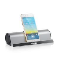 [One Week Deal] ZinGo Portable Wireless Bluetooth Speaker 10 Hours Playtime Stainless Aluminum Shell with Stand Dock,for Tablet Iphone, Ipad, Kindle, Ipod, Samsung, and All Other Smartphones Blue