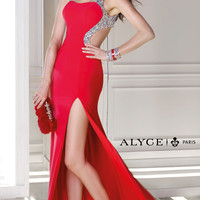 Long Open Back Formal Dress by Alyce