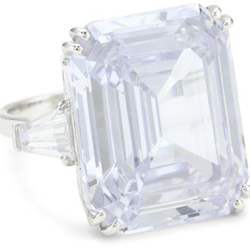 "CZ by Kenneth Jay Lane ""Glamour Collection"" 33 CTTW Elizabeth Taylor Diamond Ring, Size 7"
