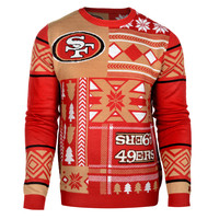 "San Francisco 49ers Official Men's NFL ""Ugly Sweater"""