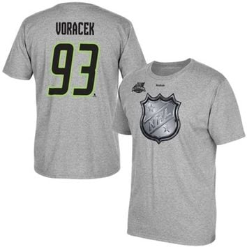 Mens Jakub Voracek Reebok Gray 2015 All Star Name & Number T-Shirt