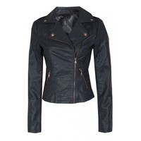 Women's Fashion Aztec Embossed Pu Biker Jacket