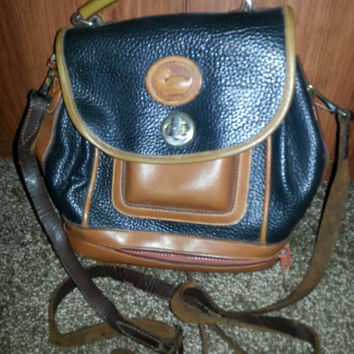 Vintage 1980s Dooney & Bourke All Leather Weather Traveler's Bag