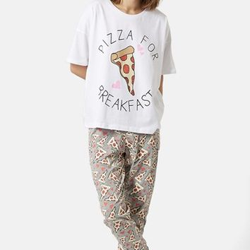Women's Topshop 'Pizza for Breakfast' Pajama Set,
