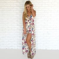 Island Dream Romper Maxi in Ivory