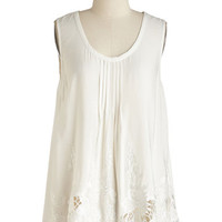 ModCloth Boho Long Sumptuous Splendor Top in Ivory