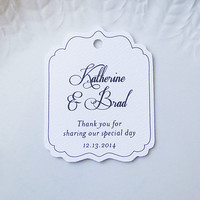 Wedding Favor Tags, Personalized Gift Tags or Shower Favor Tags, Custom Labels, Custom Gift Card - Set of 20