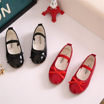 2016 Fashion Chilren Girls Shoes Spring Autumn Casual Flats Shoes for Girls Princess Ballet Flats Shoes for Party Wedding