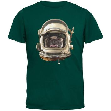 DCCKJY1 Astronaut Pug Dark Green Youth T-Shirt