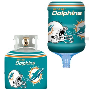 Miami Dolphins All In One Propane Tank / 5 Gallon Bottle Skin Utility Cover