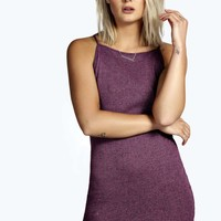 Tina High Neck Ribbed Fabric Bodycon Dress