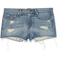 Rag & bone JEAN | Mila distressed denim shorts | NET-A-PORTER.COM