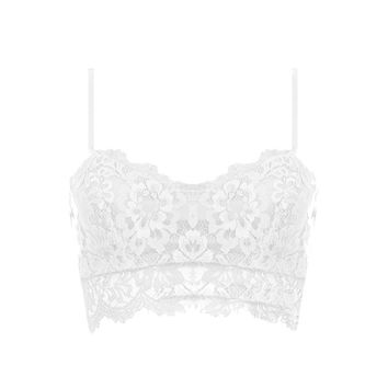 Scalloped Floral Lace Bralette