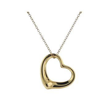 Tiffany & Co Peretti Open Heart Pendant Long Necklace