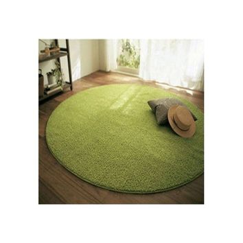 Bamboo Fiber 100 cm 39'' Round Carpet for Bedroom Floor Rug Living room Mat Area Rug 11 Colors red green