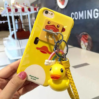 New 2016 Cute Mickey Minnie Mouse Donald Daisy Duck tassel Women Girl Cell Phone Cases For Apple iPhone 6 6s plus Cover Pendant
