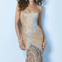 Embellished Sweetheart Gown by Splash by Landa Designs.