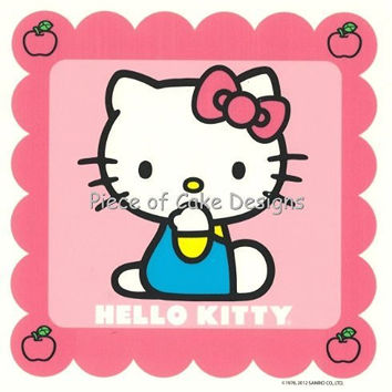 1/4 Sheet ~ Hello Kitty Pink Birthday ~ Edible Image Cake/Cupcake Topper!!!