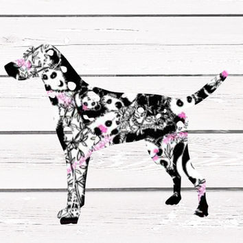Lilly Pulitzer Dalmatian Vinyl Decal For Yeti Tumblers, Cars, and Tech Devices