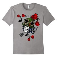 Skull Ghost Military Army Veteran T-Shirt