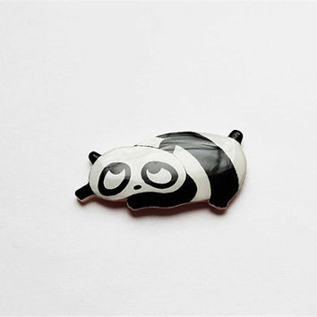 "Free shipping Broch animal brooch ""Black-and-white panda"""
