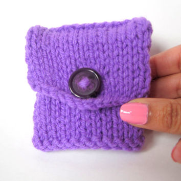 Purple Tea Tote, Reusable Tea Pouch, Tea Organizer Accessory, Handmade Tea Bag Holder Keeper, Tea Bag Wallet, Coin Purse, Amethyst, Tea Gift