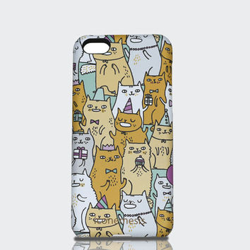 Cat iPhone 5c Case, kitty designed by Gemma Correll