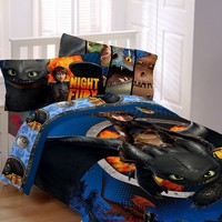 DreamWorks How to Train Your Dragon 2 Dragon Flyer 4-pc. Bed Set - Twin (Blue)