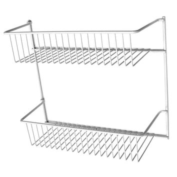 ClosetMaid® 800200 2-Tier Cabinet/Wall Storage Rack, Epoxy Coated Steel