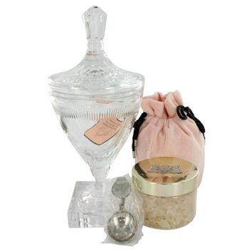 Juicy Couture By Juicy Couture Huge Crystal Goblet With Pacific Sea Salt Soak In Luxury Juicy Gift Box 10.5 Oz