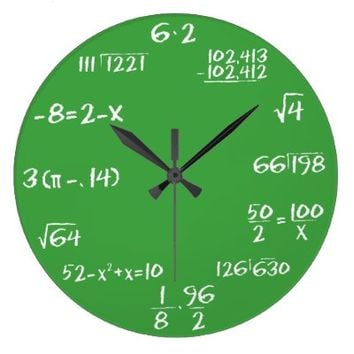 Green Slate Math Clock