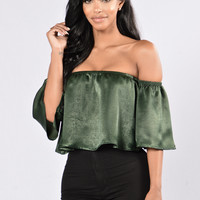 Favorite Girl Top - Olive