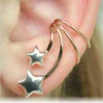 Stars Ear Cuff  14K Gold Filled/Sterling Silver  by ChapmanJewelry