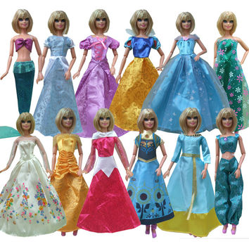 new free shipping 5sets=clothes pants or snow white prince Anna Elsa mermaid Cinderella