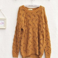Coarse knitting wool Serratula loose sweater from Fashion Accessories Store